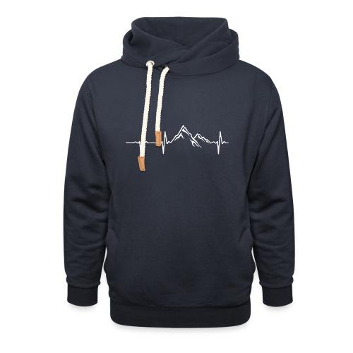 bergen_wit - Sjaalkraag hoodie