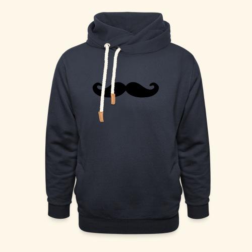 Loco Moustache - Sjaalkraag hoodie