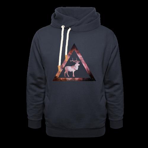 Galaxy Deer Geometry Triangle - Schalkragen Hoodie