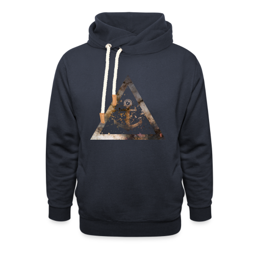 Galaxy Anchor Geometry Triangle - Schalkragen Hoodie