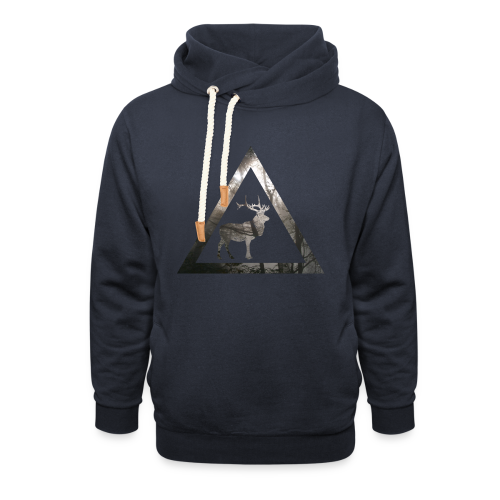 Mystical Forest Deer Triangle - Schalkragen Hoodie