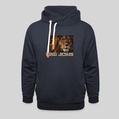 König Jesus der Löwe von Juda - Unisex Schalkragen Hoodie