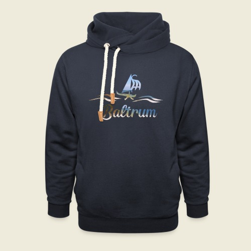 Baltrum Urlaub Nordsee Meer - Schalkragen Hoodie