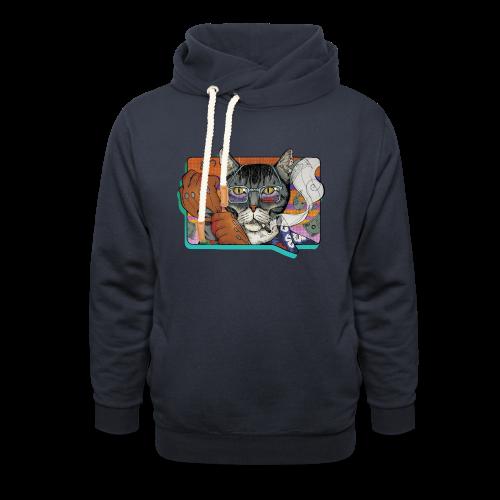 Crime Cat - Bluza z szalowym kołnierzem