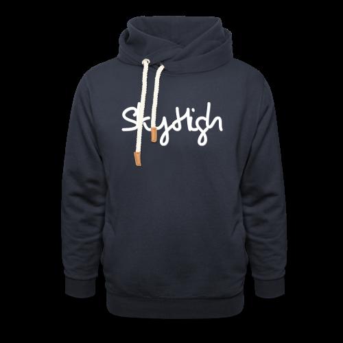 SkyHigh - Men's Premium Hoodie - White Lettering - Shawl Collar Hoodie
