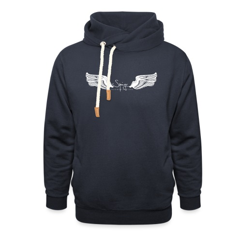 Seraph Wings white - Sweat à capuche cache-cou