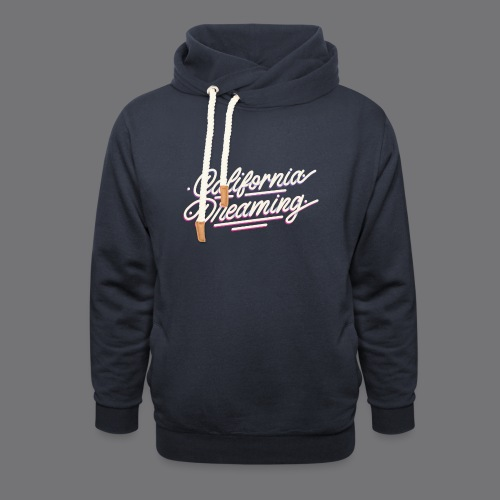 CALIFORNIA DREAMING Vintage Tee Shirt - Shawl Collar Hoodie