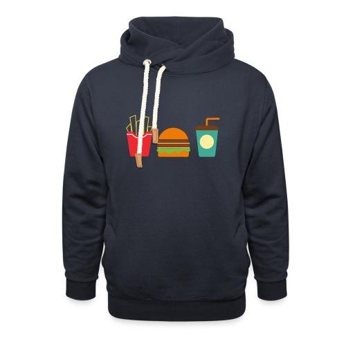 Fast Food - Felpa con colletto alto unisex
