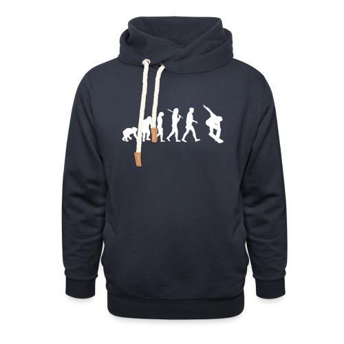 evolution_of_snowboarding - Unisex sjaalkraag hoodie