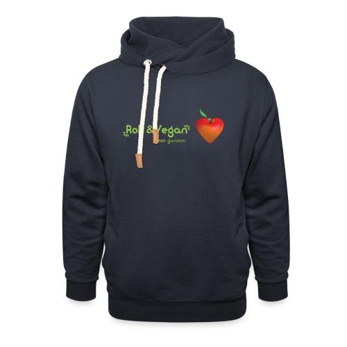 Roh & Vegan rotes Apfelherz (Rohkost) - Schalkragen Hoodie