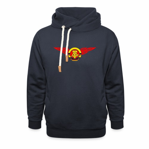 GDR flames crest 3c - Shawl Collar Hoodie