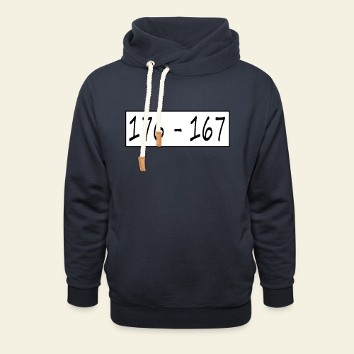 176167 - Hoodie med sjalskrave