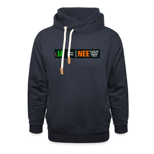 Ja ik maak websites - Sjaalkraag hoodie