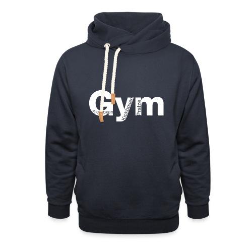 Gym weiß - Unisex Schalkragen Hoodie