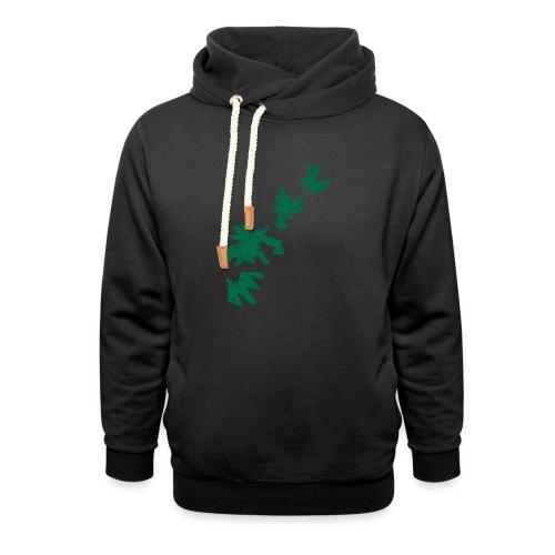 Green Leaves - Unisex Schalkragen Hoodie