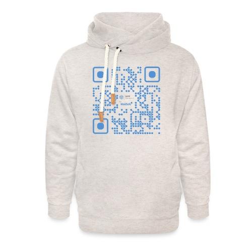 QR Maidsafe.net - Unisex Shawl Collar Hoodie