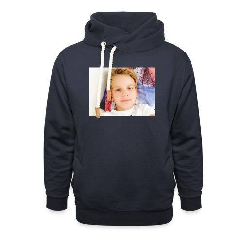 first design - Unisex hoodie med sjalskrave