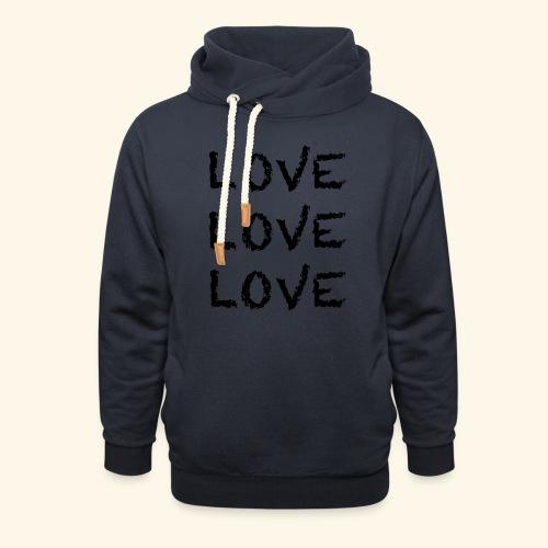 LOVE Black 001 - Schalkragen Hoodie