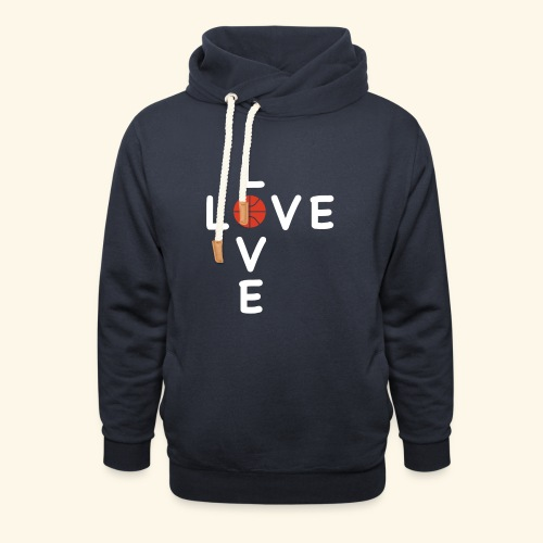 LOVE Cross basketball red 001 - Unisex Schalkragen Hoodie