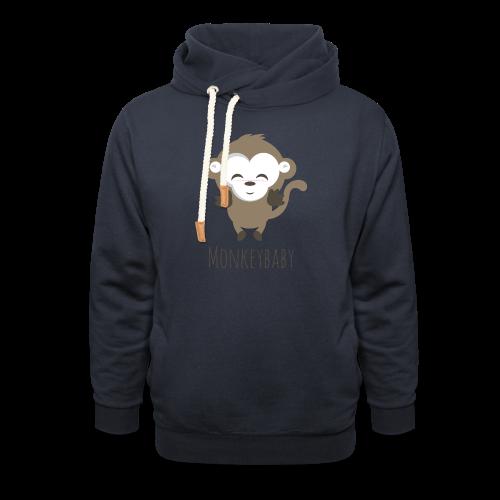 monkeybaby Logo - Schalkragen Hoodie