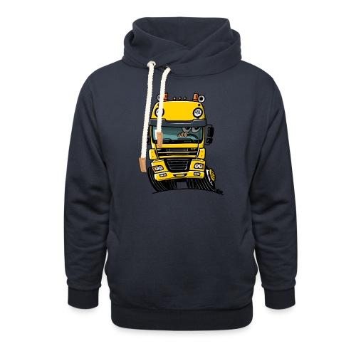 0810 D truck CF geel - Sjaalkraag hoodie