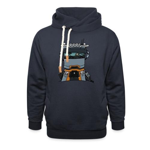 0813 R truck - Sjaalkraag hoodie