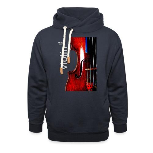 Geige i - Unisex Schalkragen Hoodie
