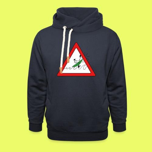 Kajak Unfall im Dreieck - Schalkragen Hoodie