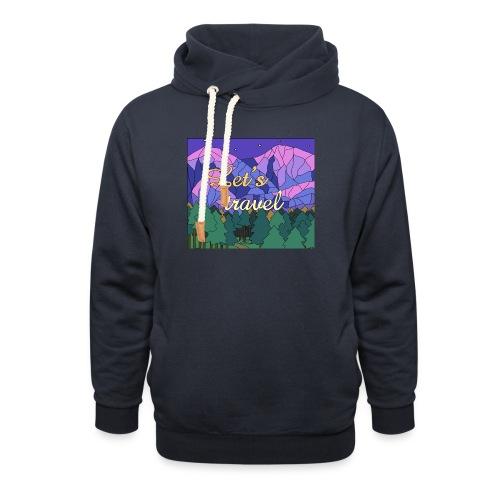 Lets Travel T-Shirt - Unisex Schalkragen Hoodie