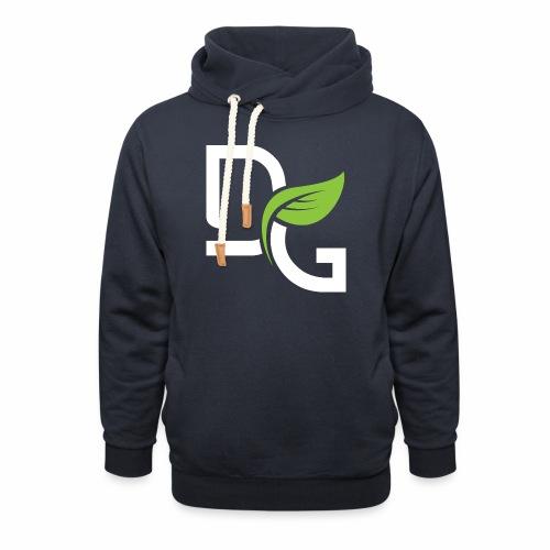 DrGreen Logo Symbol weiss grün - Unisex Schalkragen Hoodie