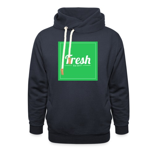 Green square - Shawl Collar Hoodie