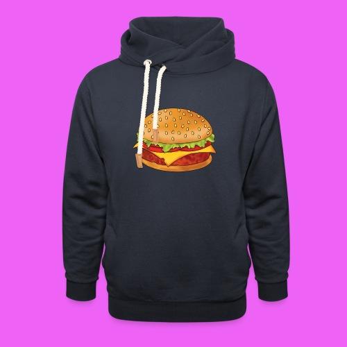 hamburguesa - Sudadera con capucha y cuello alto