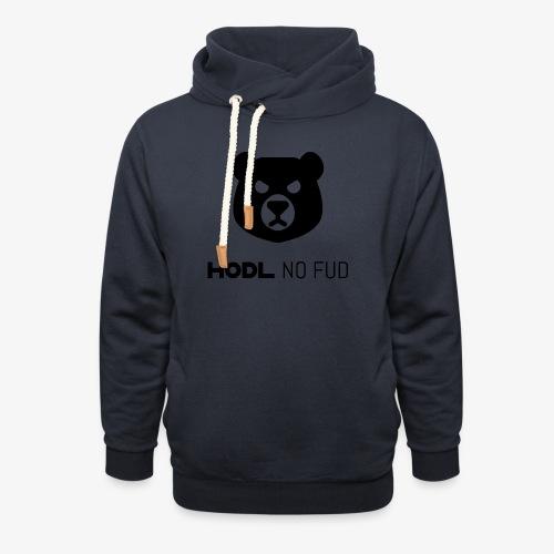 HODL-bearnofud-b - Shawl Collar Hoodie