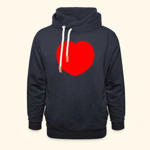Heart - Schalkragen Hoodie