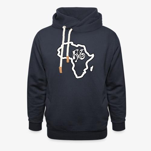 afrika pictogram - Unisex sjaalkraag hoodie