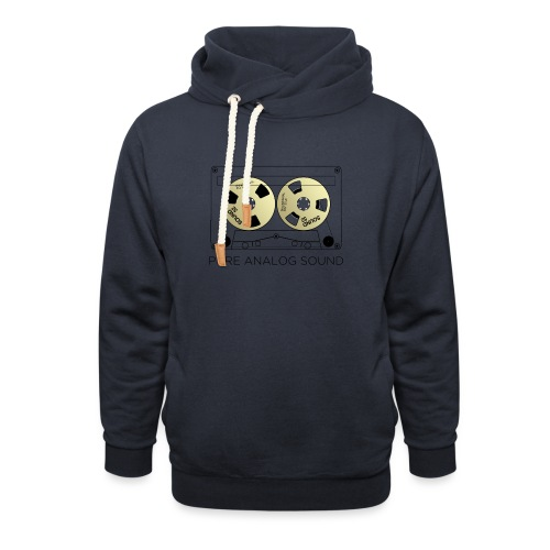 Reel gold cassette white - Shawl Collar Hoodie