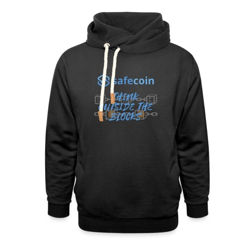 SafeCoin; think outside the blocks (blue) - Shawl Collar Hoodie