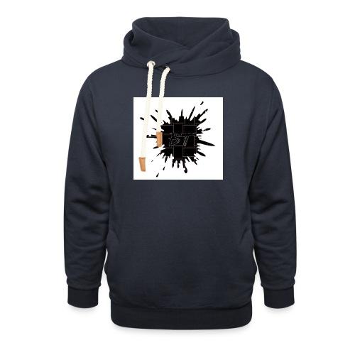 Blacktuber Splash Logo - Sjaalkraag hoodie