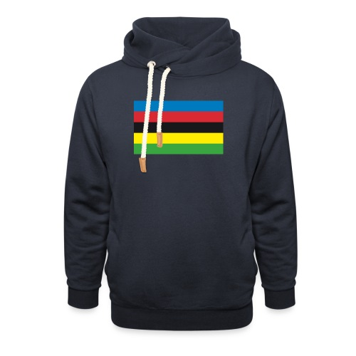 Cycling_World_Champion_Rainbow_Stripes-png - Sjaalkraag hoodie