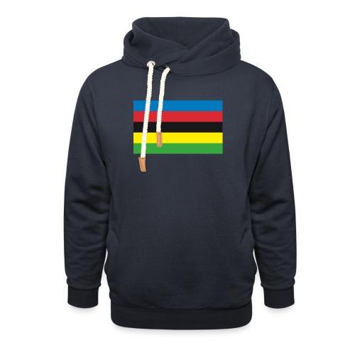 Cycling_World_Champion_Rainbow_Stripes-png - Unisex sjaalkraag hoodie