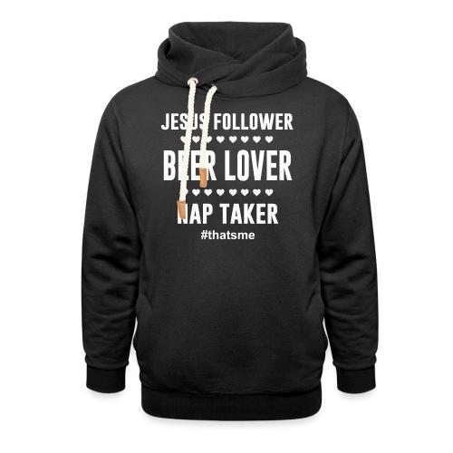 Jesus follower Beer lover nap taker - Unisex Shawl Collar Hoodie