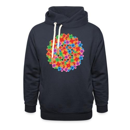 Flower mix - Shawl Collar Hoodie