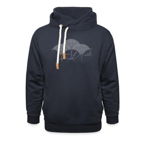 European Fan White - Unisex sjaalkraag hoodie