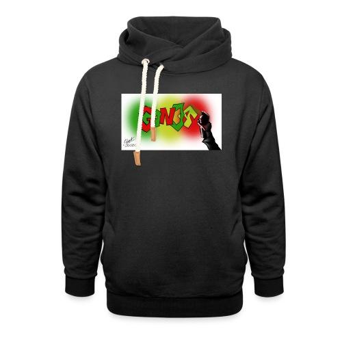 Ganja - Unisex hoodie med sjalskrave