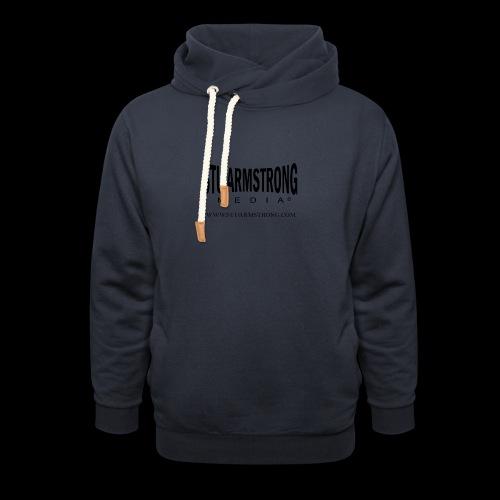 Stu Armstrong Media Black Logo - Shawl Collar Hoodie