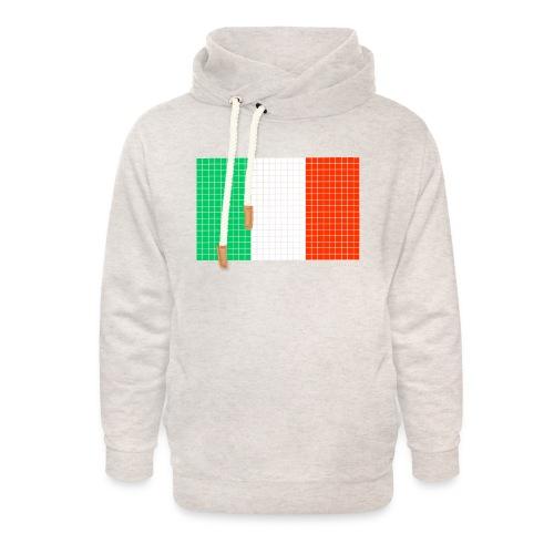italian flag - Felpa con colletto alto unisex