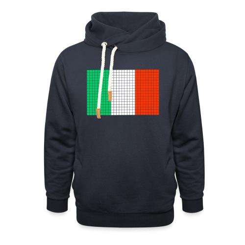 italian flag - Felpa con colletto alto