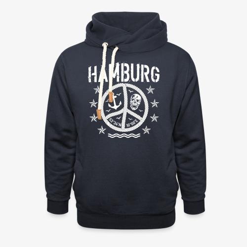 105 Hamburg Peace Anker Seil Koordinaten - Unisex Schalkragen Hoodie