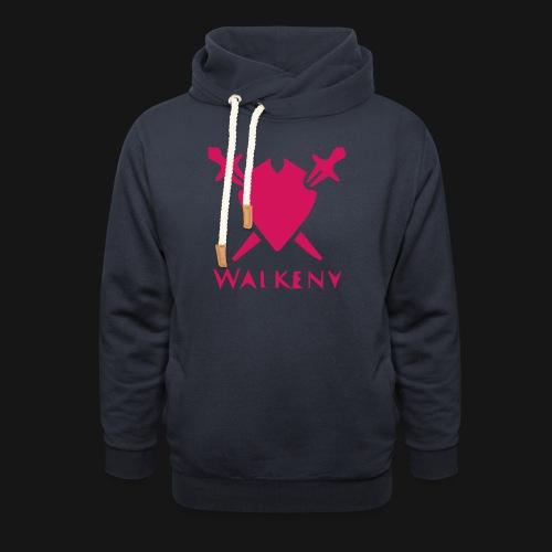 Das Walkeny Logo mit dem Schwert in PINK! - Schalkragen Hoodie