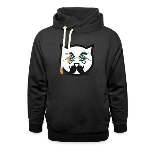 Hipster cat Boy by Tshirtchicetchoc - Sweat à capuche cache-cou